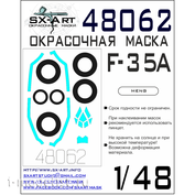 48062 SX-Art 1/48 Paint Mask for F-35A (Meng)