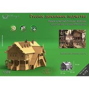 1309 Sbmodel 1/72 mansion in Kitay-Gorod, Moscow, the XVIIth century, the reconstruction from the picture of A. M. Vasnetsov