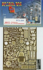 S72-244 Part 1/72 Фоторавление для MiG-21bis Zvezda