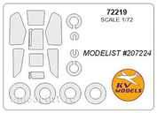 72219 1/72 KV Models a Set of painting masks for the glazing model + mask of the rims and wheels