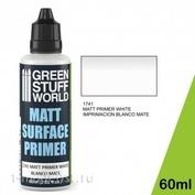 1741 Green Stuff World Акриловая грунтовка цвет белый 60 мл / Matt Surface Primer 60ml - White