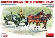 35057 MiniArt 1/35 Советская полевая кухня КП-42 с лошадьми на конной тяге