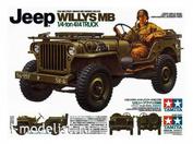 35219 Tamiya 1/35 Американский 1/4-тонный джип 4х4 Willys MB (2 варианта сборки) и 1 фигурой водителя