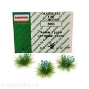 3053 DasModel 1/35 Кочки травы цветущие синие 12 мм, 30 шт.
