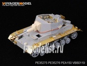 PE35276 Voyager Model 1/35 Фототравление для WWII German Geschutzwagen IV b fur 10.5cm le.F.H. 18/1(Sf) Fenders