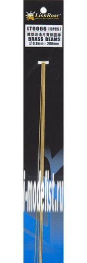 LT0066 Lion Roar Пруток металлический, диаметр 0,8 мм. Длина 200 мм. В комплекте 5 штук.