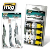 AMIG7204 Ammo Mig air Set of four acrylic paints