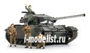 30614 Tamiya 1/25 Англ. танк Centurion (сборные гусеницы, рабочая подвеска, внутрення детал.салона, 5 фигур)