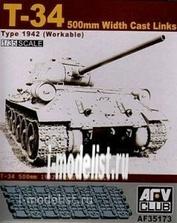 Af35173 Afvclub 1/35 T-34 500mm Workable Track Links