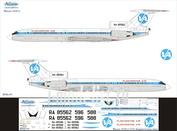 T5B-010 Ascensio 1/144 Декаль для тушка-154Б-2 (ВладивостокАвиа)