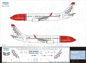 738-053 Ascensio 1/144 Scales the Decal on the plane Boeng 737-800 (Norwegian (6000th 737))