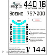 44018 SX-Art 1/144 Окрасочная маска для Boeing 757-200 (Звезда)