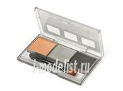 89962 Tamiya Набор пигментов For Car Chassis (жженый металл, титановый, стальной)