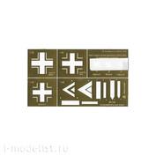 100207 Микродизайн 1/48 Трафарет покрасочный №3 (Опознавательные знаки Bf-109)