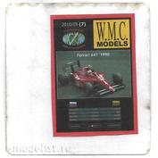 WMC-7-1 W.M.C. Models 1/25 Дополнительный набор резиновых шин для Ferrari 641, дождь (лазерная резка)