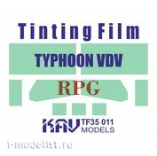 TF35 011 KAV models 1/35 Tinted film for Typhoon Airborne K-4386 (RPG)