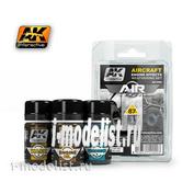 AK-2000 AK Interactive Набор жидкостей для нанесения эффектов AIRCRAFT ENGINE EFFECTS WEATHERING SET (эффекты авиационных двигателей)