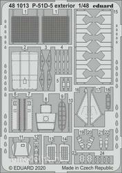 481013 Eduard 1/48 Фототралвение для P-51D-5 экстерьер