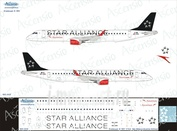 195-005 Ascensio 1/144 Декаль на самолет Embraer 195 (Star Alliance (Austrian Airlines))