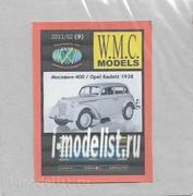 WMC-9-1 W.M.C. Models 1/25 Дополнительный набор резиновых шин для модели Moskvich 400 / Opel Kadett 1938 (лазерная резка)