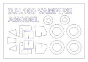 72534 KV Models 1/72 DH.100 Vampire Mk.3 / 5 / 6 / 9 / 52  + маски на диски и колеса