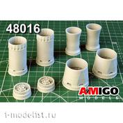 AMG48016 Amigo Models 1/48 МиGG-31Б/ БМ реактивное сопло двигателя Д-30Ф6