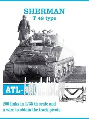 ATL-35-48 Friulmodel 1/35 Траки железные для SHERMAN T 48 type