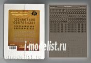 DT-3502 Wilder 1/35 Сухая декаль WWII German numbers for vehicles. Variant 1- Black-