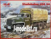 35514 ICM 1/35 Studebaker US6 U4 с тентом и лебедкой