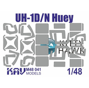 M48 041 KAV Models 1/48 Окрасочная маска на остекление UH-1D/N (Kitty Hawk)