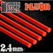 9254 Green Stuff World Акриловые круглые стержни, 2,4 мм - Флуоресцентный КРАСНО-ОРАНЖЕВЫЙ / Acrylic Rods - Round 2.4 mm Fluor RED-ORANGE