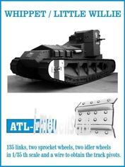 ATL-35-146 Friulmodel 1/35 Траки железные для WHIPPET / LITTLE WILLIE