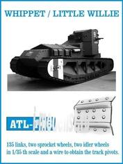 ATL-35-146 Friulmodel 1/35 Траки железные для WHIPPET / LITTLE WILLIE