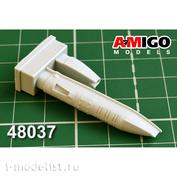 AMG48037 Amigo Models 1/48 MiGG-31 fuselage fairing six-barrel aircraft gun GSH-6-23