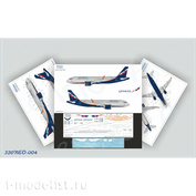 320NEO-004 Ascensio 1/144 Декаль на самолёт A320NEO, Аэрофлот Российские Авиалинии