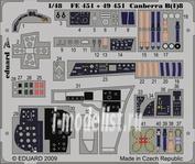 FE451 Eduard 1/48 Цветное фототравление для Canberra B(I)8 S. A.