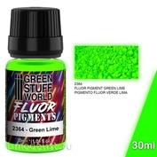 2364 Green Stuff World Пигмент ФЛУОРЕСЦЕНТНЫЙ, ЗЕЛЕНЫЙ ЛАЙМ / Pigment FLUOR GREEN LIME