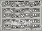 TP502 Eduard 1/35 Фототравление для German Bike Licence Plates