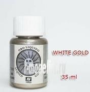 70796 Краска металлическая лаковая Vallejo Золото белое/White gold