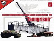 UA72309 Modelcollect 1/72 Fist of War WWII German 28cm Kanone 3 Auf Lastentrager E-100