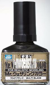 WC01 Gunze Sangyo Смывка MR.WEATHERING Color - Multi Black