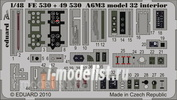 FE530 Eduard 1/48 Color photo etched parts for the A6M3 model 32 interior S. A.