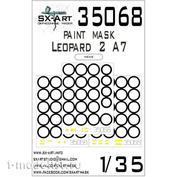 35068 SX-Art 1/35 Окрасочная маска для Leopard 2A7 (Meng)