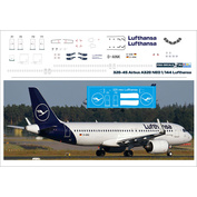 320-45 PasDecals 1/144 Decal for 320 NEO Lufthansa NEW Black