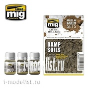 AMIG7439 Ammo Mig DAMP SOILS (MUD & EARTH SETS) (Moist soil)