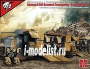 UA72161 Modelcollect 1/72 Fist of War Series German P300/2 PanzerKampfWagen und Träger