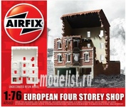 75007 Airfix 1/76 European Four Storey Shop Ruin