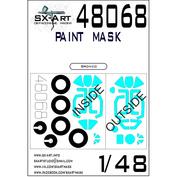 48068 SX-Art 1/48 Paint Mask M&G-15 (Bronco)