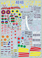 72064 Begemot 1/72 decals for Crocodile helicopter