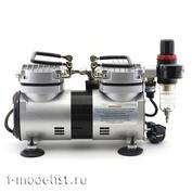 1205 JAS Специализированный компрессор для работы с аэрографом с ручной регулировкой давления на выходе